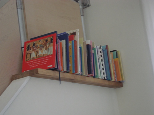 Book Shelf on the Stair Ledge