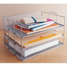 Stacking Mesh Paper Trays