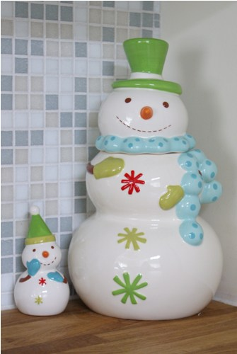Hungry Snowman Cookie Jar