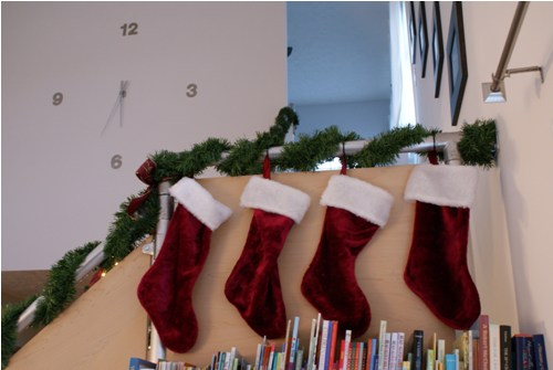 Stockings Hung on the Railing