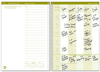 BusyBodyBook Family Organizer Inside