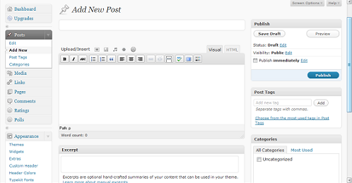 Setting Up a New Blog