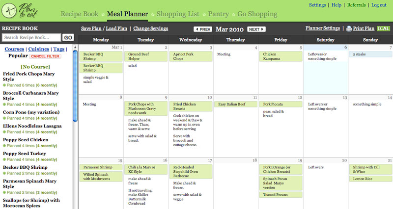 Plan to eat online meal planning giveaway 2 winners for Planning on line