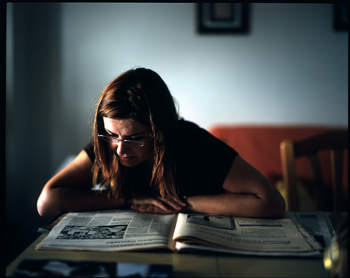Reading Blogs & the Newspaper