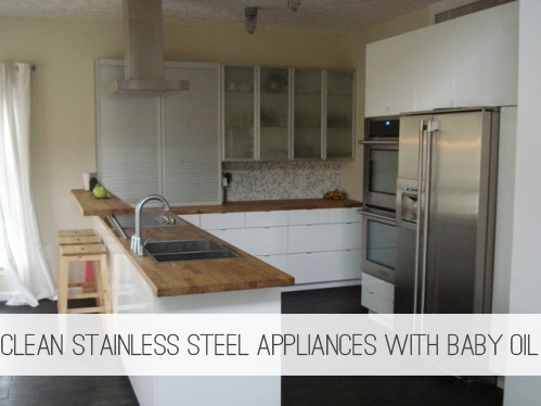 Clean Stainless Steel Appliances with Baby Oil {Frugal Cleaning} at lifeyourway-staging.wmnnzja3-liquidwebsites.com