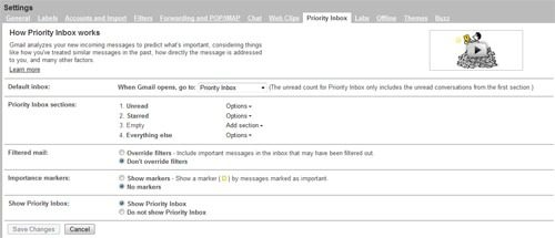 Use Gmail's Priority Inbox to Create Multiple Inboxes