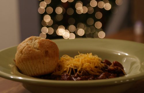 Blue Ribbon Chili with Cornbread