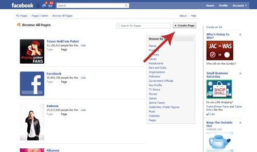 how to set up a facebook for an organization