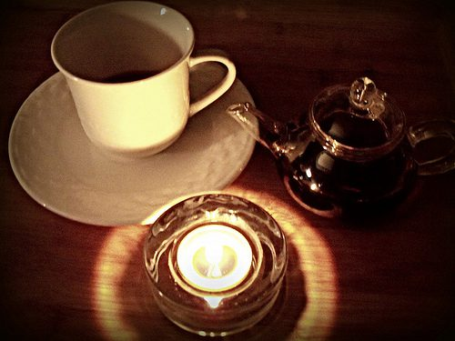 tea and a candle