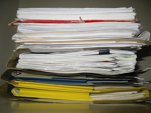 organizing for tax time