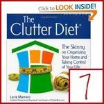 clutter & organizing books