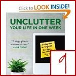 clutter & organizing books