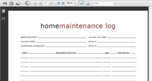 Read more about the article Printable Home Maintenance Log