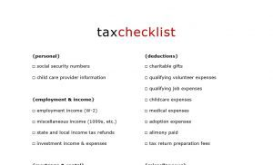 Read more about the article Free Printable Tax Checklist to Organize Your Tax Documents