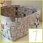 recycled newspaper crafts