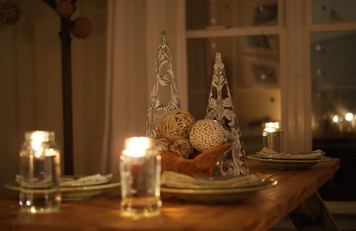 ski lodge tablescape