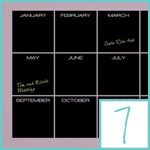 wall calendar decals