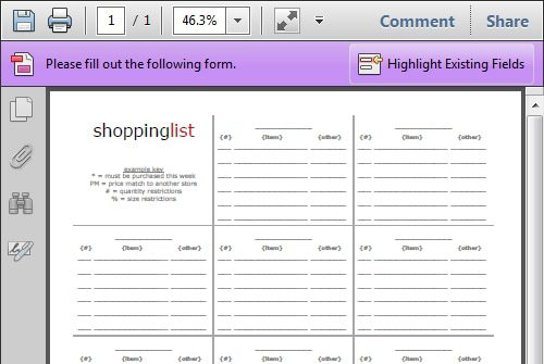 Organize Your Grocery List With These Free Printable Shopping