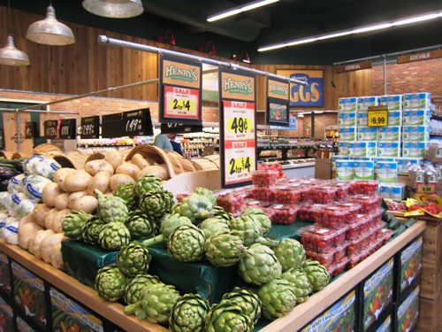 grocery shopping in California