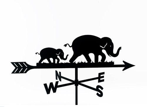 weather vane of elephants