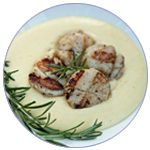 rosemary-grilled-scallops-and-creamy-gruyere-polenta