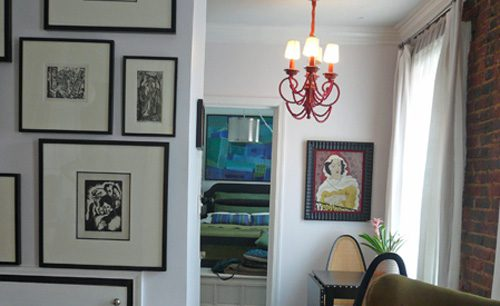 frames in living room