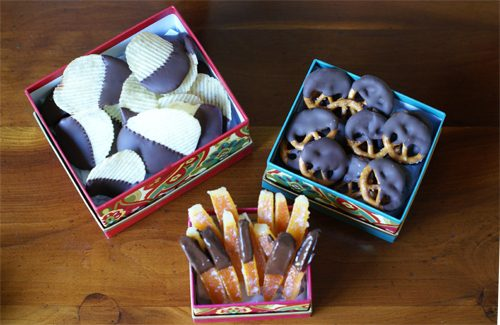 101 Days of Christmas: Chocolate-Covered Chips & Pretzels
