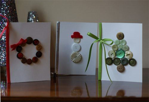 Button Christmas Cards {101 Days of Christmas at lifeyourway.net}