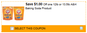 $1 off Arm & Hammer Baking Soda + More
