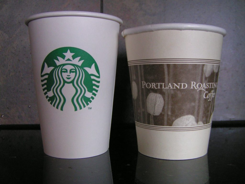 repurposing paper coffee cups