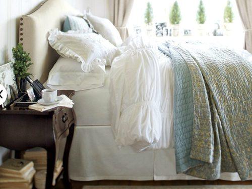 cozy bedroom with bedding
