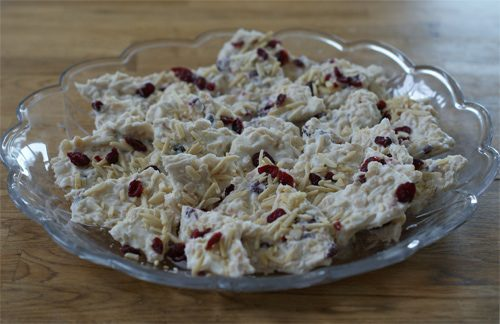 cranberry crunch bark