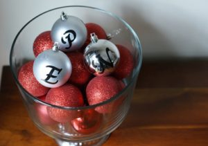101 Days of Christmas: Easy Monogram Balls