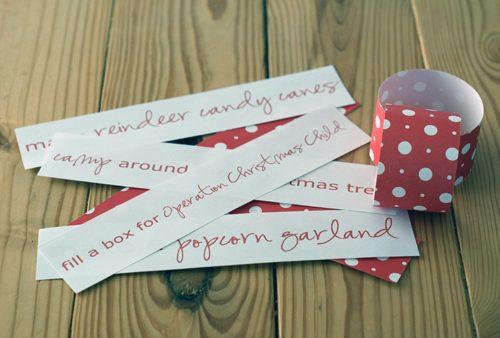 101 Days of Christmas: Printable Advent Chain