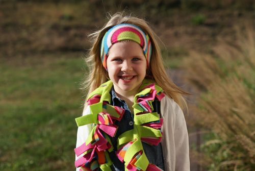 felt scarf and headband