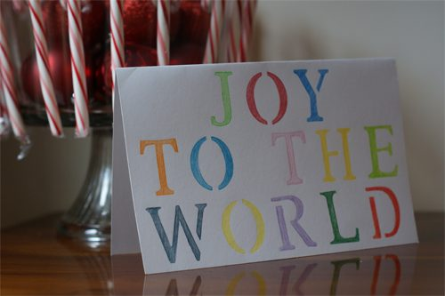 joy to the world cards
