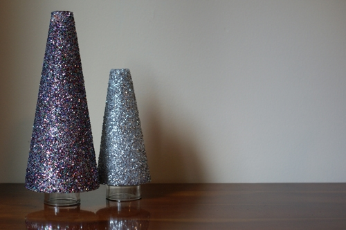 glitter trees