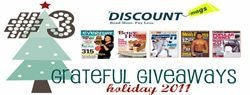 Grateful Giveaways #3: $100 Discount Mags Gift Certificate