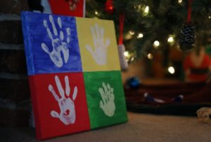 101 Days of Christmas: Handprint Canvas
