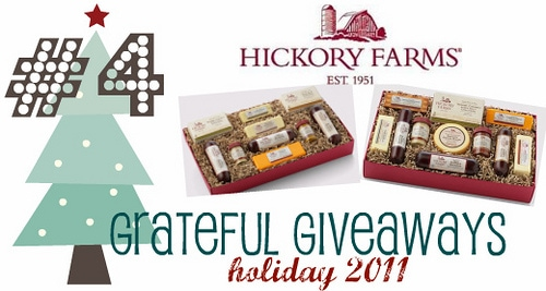 Grateful Giveaways #4: Hickory Farms Party Planner & Home for the Holidays Gift Boxes