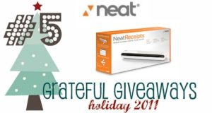 Grateful Giveaways #5: NeatReceipts Scanner from The Neat Company
