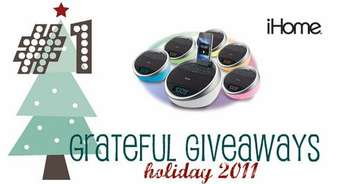 Grateful Giveaways #1: iHome iA17 Color-Changing Alarm Clock Radio for iPhone/iPod