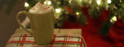 101 Days of Christmas: Peppermint Hot Chocolate & Whipped Cream