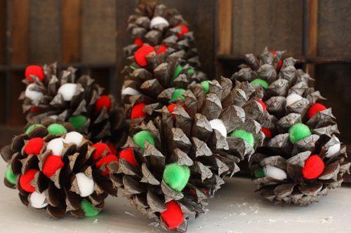 You are currently viewing PomPom Pine Cones {DIY Decor}