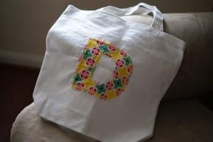 101 Days of Christmas: Monogrammed Tote Bag