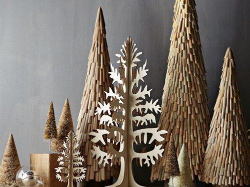 wooden tree tableau