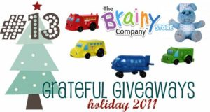 Grateful Giveaways #13: The Brainy Company Glowberry Bears + Wooden Flashcar Friends