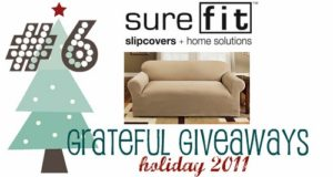 Grateful Giveaways #6: SureFit Stretch Pique Slipcover for Loveseat or Sofa