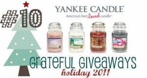 Grateful Giveaways #10: Yankee Candles Large Seasonal Jar Candles