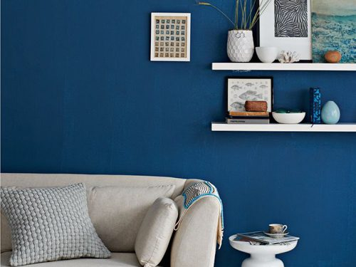 blue paint in living room